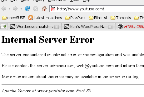 YouTube down? | The Danesh Project