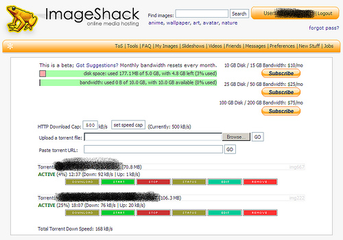 ImageShack Torrent Service