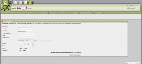 Demonoid.com Registration