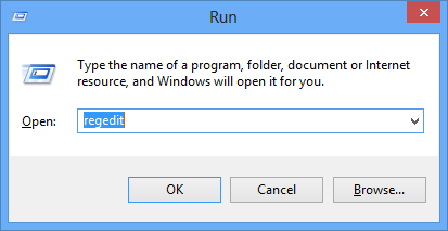 windows activation run regedit