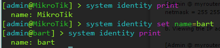 Change MikroTik Hostname